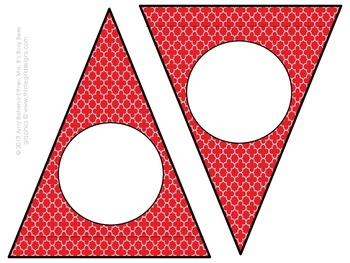 Customizable Red Little Amigos Pennant Banner