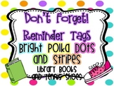 Customizable Refrigerator Reminders  {Bright Polka Dots and Stripes}