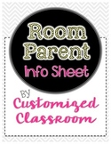 Room Parent and Party Info Sheet