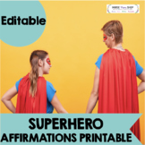 Customizable SUPERHERO printable