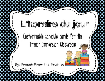 Customizable French Schedule Cards