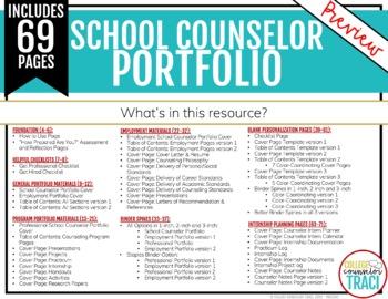 Customizable School Counseling Portfolio Bundle