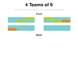 Customizable Seating Chart: 4 Teams of 6