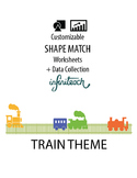 Customizable SHAPE MATCHING Worksheets & Data For Students