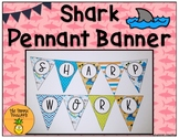 Customizable Shark Pennant Banner