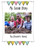Customizable Social Story with Behavior Sheets