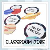 Customizable Space Themed Classroom Jobs
