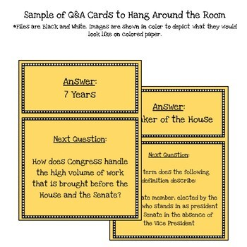 Customizable Structure of Congress Scavenger Hunt Style Review Game