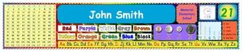 Customizable Student Name Tags