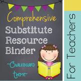 Substitute Binder - Chalkboard - CUSTOMIZABLE!