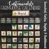 Customizable Succulent Calendar