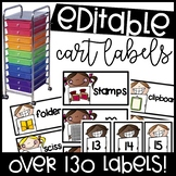 Editable Supply Labels for rainbow drawer carts
