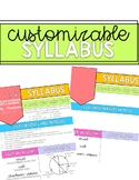 Customizable Syllabus