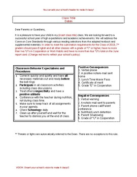 Customizable Syllabus Including Mastery Grading Scale