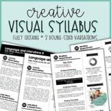 Editable Visual Syllabus Templates - Pack