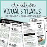 Visual Syllabus Template Pack #1 - Creative & Editable