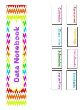 Customizable Teacher Binder or Data Notebook