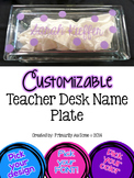 Customizable Teacher Desk Nameplate