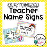 Customizable Teacher Name Signs
