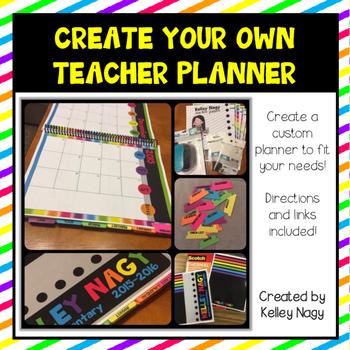 Customizable Teacher Planner - Night Brights Colors