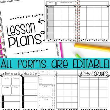 Ultimate Teacher Planner & Organizer Binder EDITABLE {Ink-Friendly}