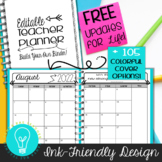 Teacher Planner & Organizer Binder - EDITABLE Ink-Friendly Design