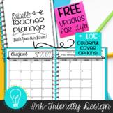 Teacher Planner & Organizer Binder - EDITABLE Ink-Friendly Design