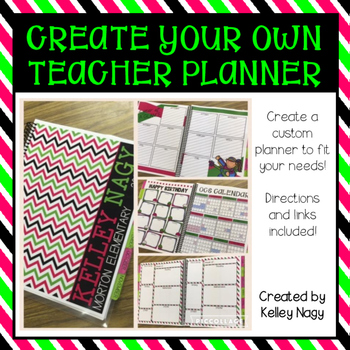 Customizable Teacher Planner - Watermelon Colors