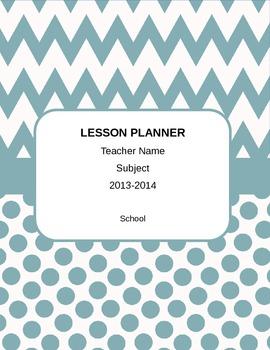 Customizable FL Teacher Planner with 2013-14 Calendar