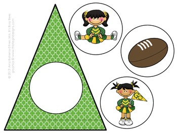 Customizable Team Green & Gold Pennant Banner  (Football)