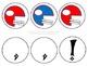 Customizable Team Red & Blue Pennant Banner (Football)