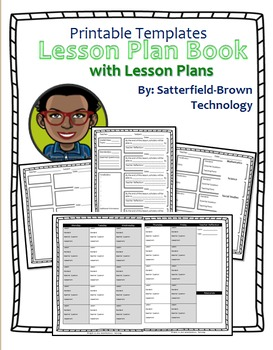 Lesson Plan: Customizable Templates- Lesson Plan Book w Da