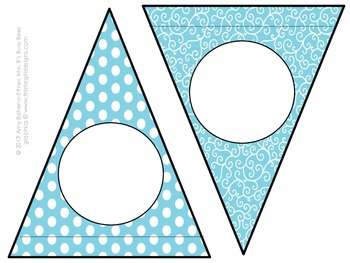 Customizable Turquoise Butterflies Pennant Banner