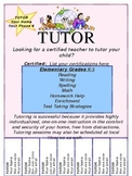 Customizable Tutoring Flyer