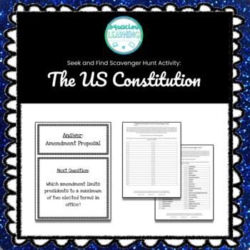 Amendment Scavenger Hunt Worksheets Teaching Resources TpT
