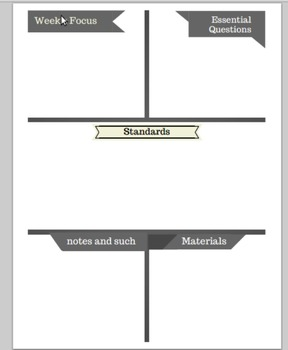 Customizable Unit and Lesson Plan Templates