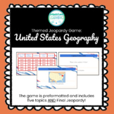 Customizable United States Geography Jeopardy Style Game