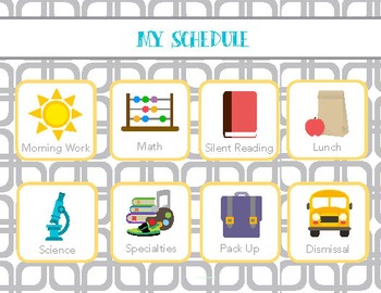 Customizable Visual Schedule with Student Version