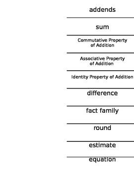 Customizable Vocabulary Flap Book