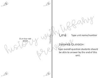 Customizable Vocabulary TIPS Chart Foldable (ISN)