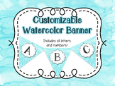 Customizable Watercolor Banner
