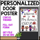 Customizable Welcome Sign Circus Themed