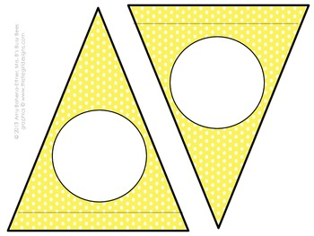 Customizable Yellow Bees Pennant Banner