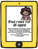 Customizable iPad Classroom Rules