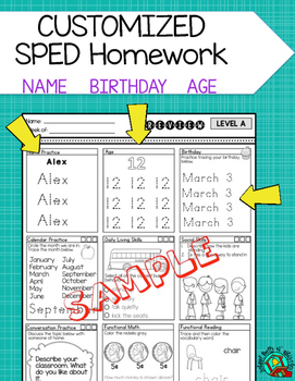 Customization of Special Education Homework
