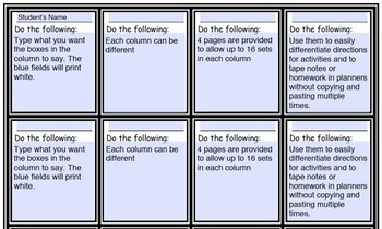 Customize Differentiated Student Task Cards, Exit Tickets, and Notes in Seconds