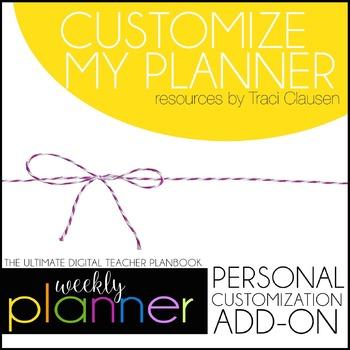 Customize My Planner