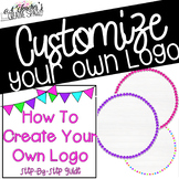 Customize Your Own Logo | Neon Dots Design