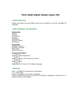Customized 10th Grade English Lesson Plan