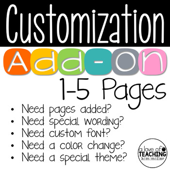 Customization Add-On (1-5 Pages)
